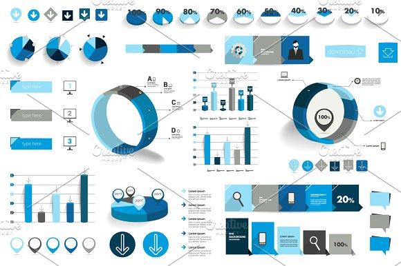 Mega set of infographic elements