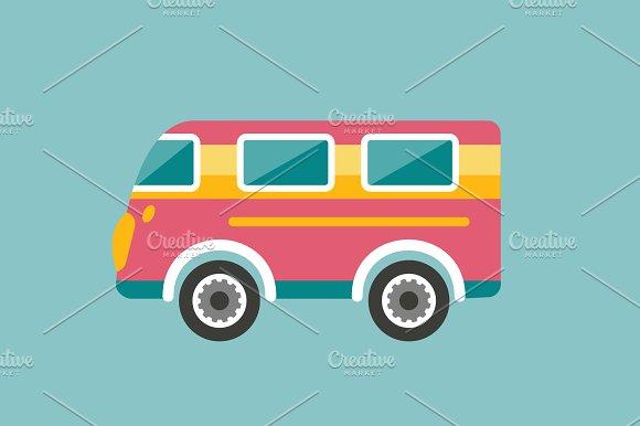 Retro bus, holiday van