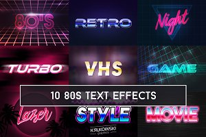 80's Retro Text Effect Mockup