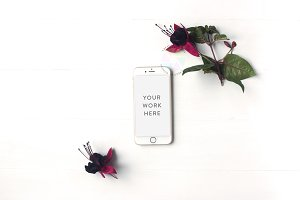 Styled Feminine iPhone Mockup