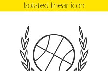 Basketball ball linear icon. Vector