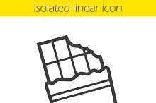 Chocolate bar linear icon. Vector