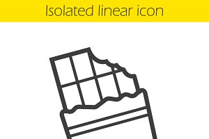 Chocolate bar linear icon. Vector