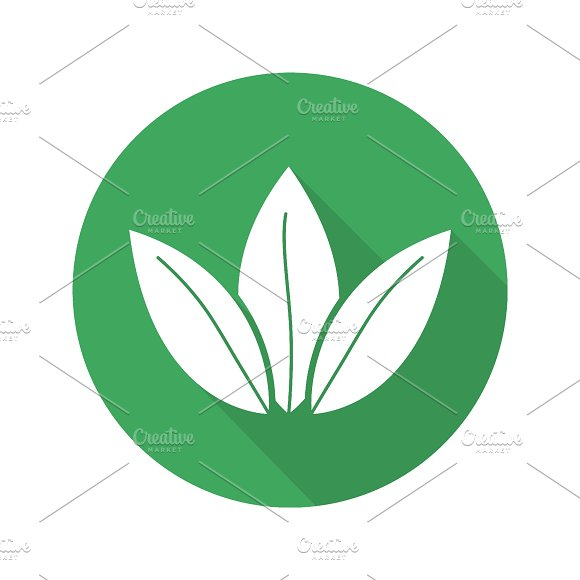 Tea leaves icon. Vector - Icons