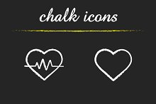 Cardiology. 4 icons set. Vector