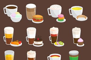 Coffee snack vector illustration