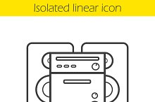 Stereo system linear icon. Vector