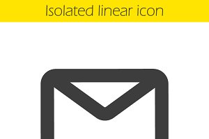 Email linear icon. Vector