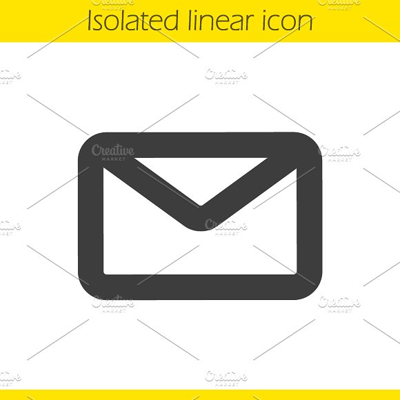 Email linear icon. Vector - Icons