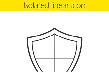 Heraldic shield linear icon. Vector