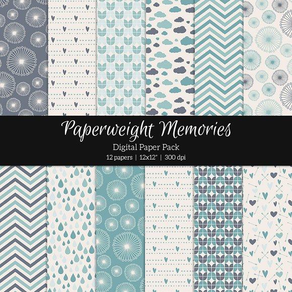 Patterned Paper - Aqua Dreams