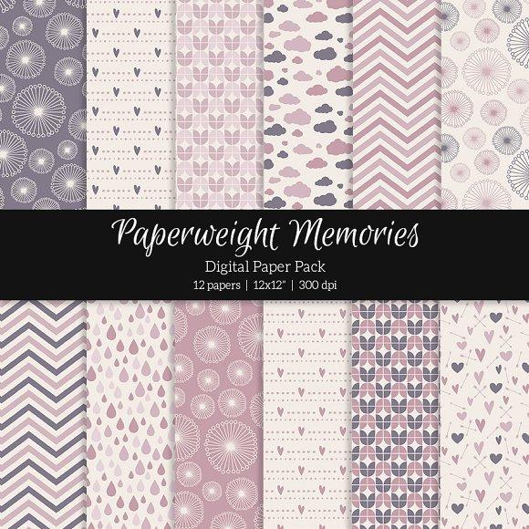 Patterned Paper Rose Dreams