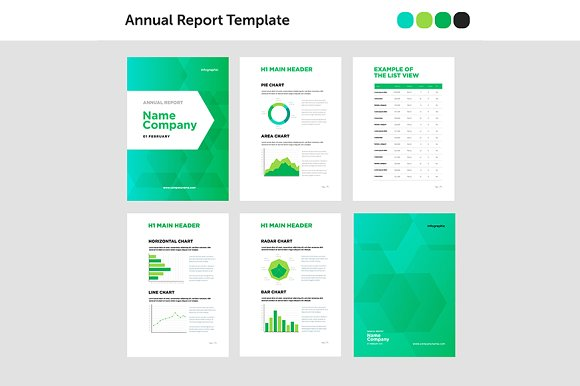 modern annual report template brochure templates creative market