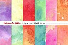 Watercolor Bliss Digital Papers