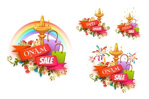 Onam Holiday banners