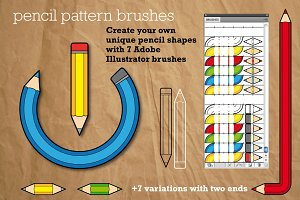 Pencil Pattern Brushes