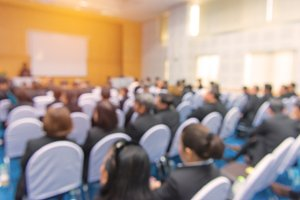 Blur business Conference in meeting