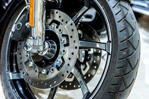 motorbike brake in wheel