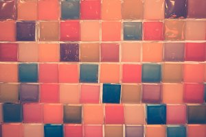 Colorful of Mosaic tiles abstract