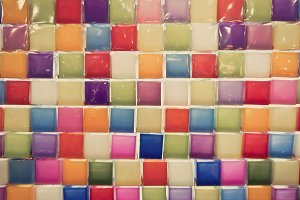 Colorful of Mosaic tiles
