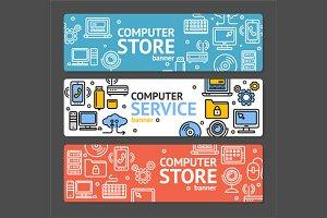 PC Service and Shop Banner Set