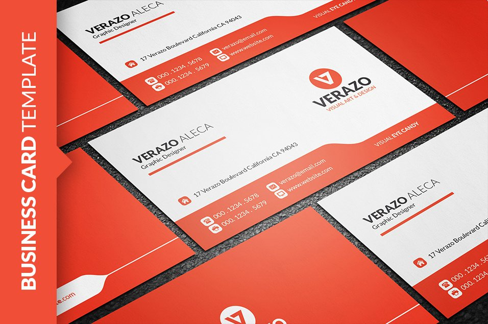 Clean Modern Business Card Template ~ Business Card Templates ...