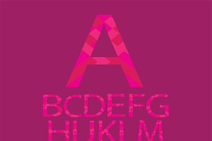 Alphabet paper vector pink color