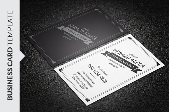 Retro vintage business card template business card templates retro vintage business card template business card templates creative market wajeb Images