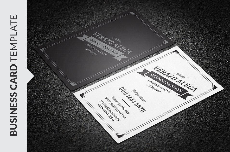 Retro Vintage Business Card Template ~ Business Card Templates ...