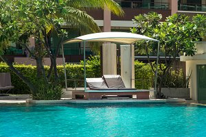 pool bed