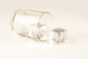 glass isolated with ice
