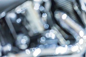 bokeh of silver metal Lighting
