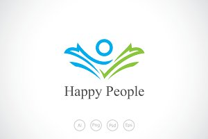Happy People Logo Template