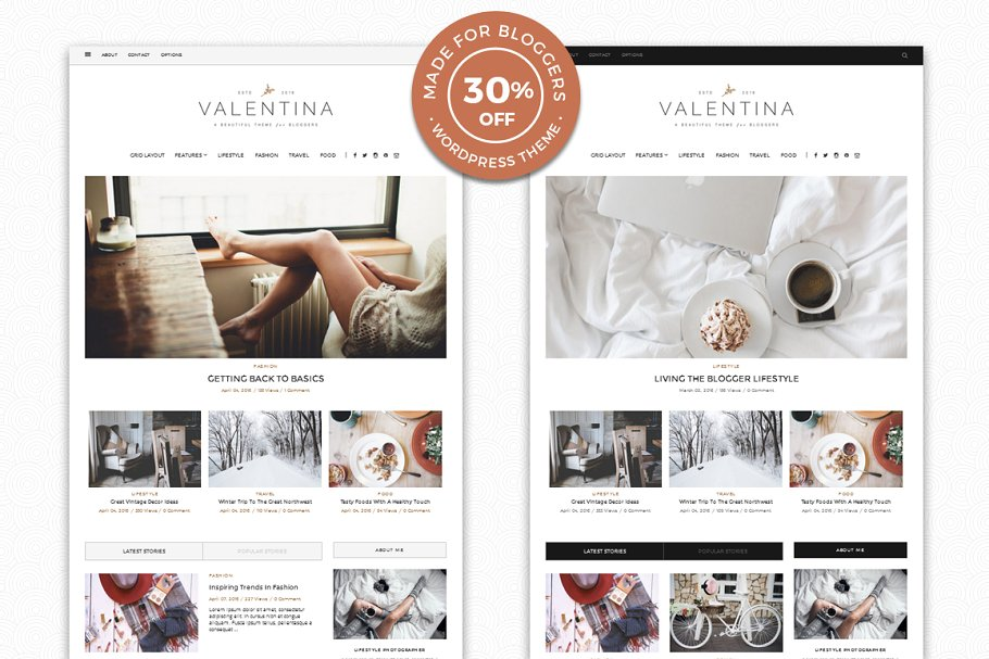 Valentina - A WordPress Blog Theme