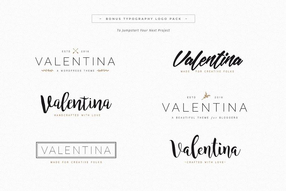 Valentina - A WordPress Blog Theme
