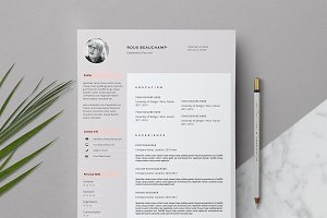 Resume Template 3-Page / Roux