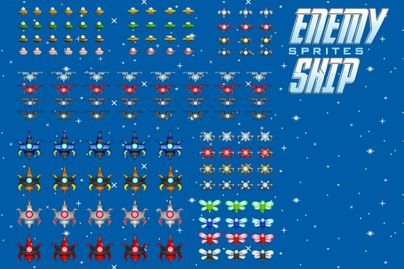 Spaceship 1 Sprites in Illustrations - product preview 2