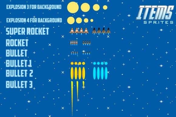 Spaceship 1 Sprites in Illustrations - product preview 4