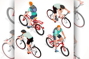 Teen Boys Cycling Isometric