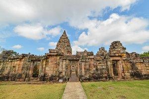 Stone castle in Phanom rung