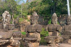 Bayon Khmer temple at Angkor