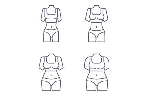 Collection of female body types