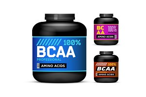 Black cans collection with BCAA