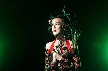 Geisha with traditional makeup