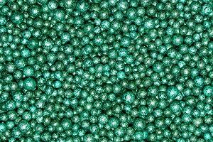 shining green decorative balls