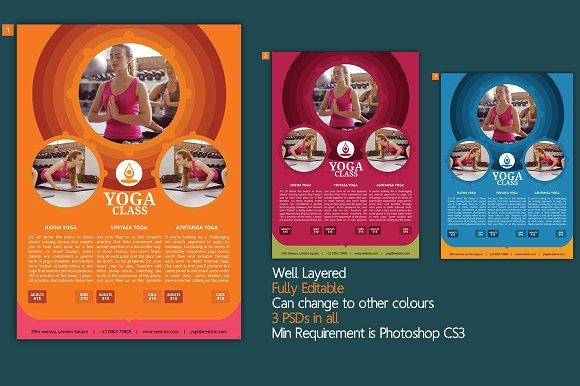 Yoga Flyer Template Flyer Templates on Creative Market – Yoga Flyer