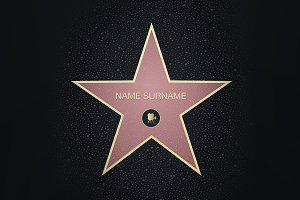 Fame star with place for name