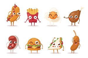Fast food emotion vector