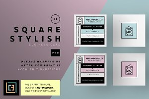 Square Stylish - Business Card 88
