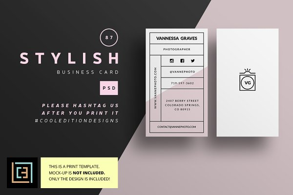 Stylish - Business Card 87